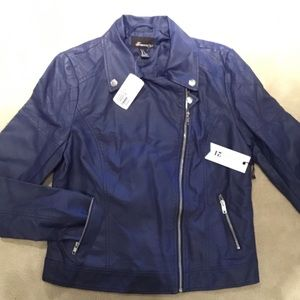 Women's NWT bluish-purple faux leather FOR 21/ M